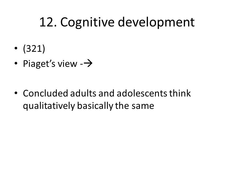 12. Cognitive development