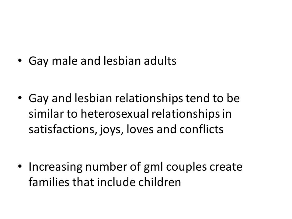 Gay male and lesbian adults