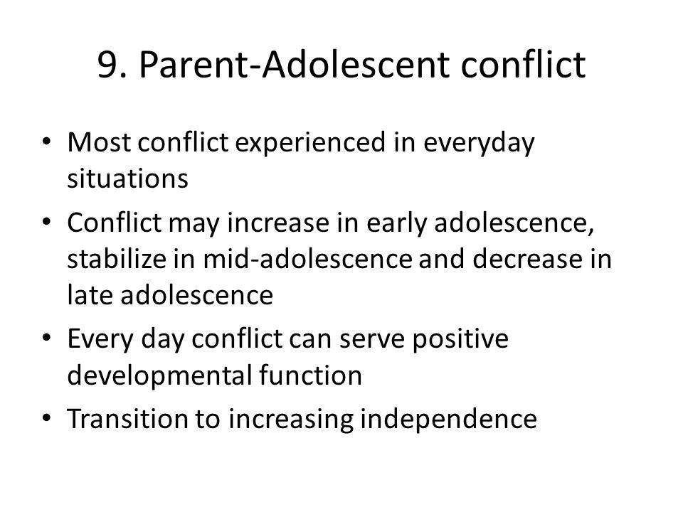 9. Parent-Adolescent conflict