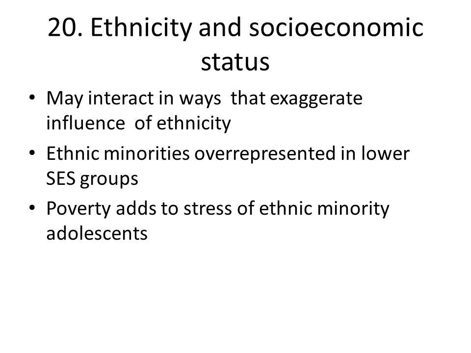 20. Ethnicity and socioeconomic status