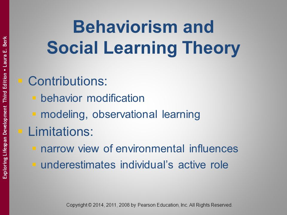 Behaviorism and Social Learning Theory