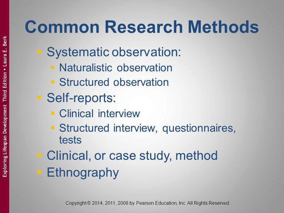 Common Research Methods
