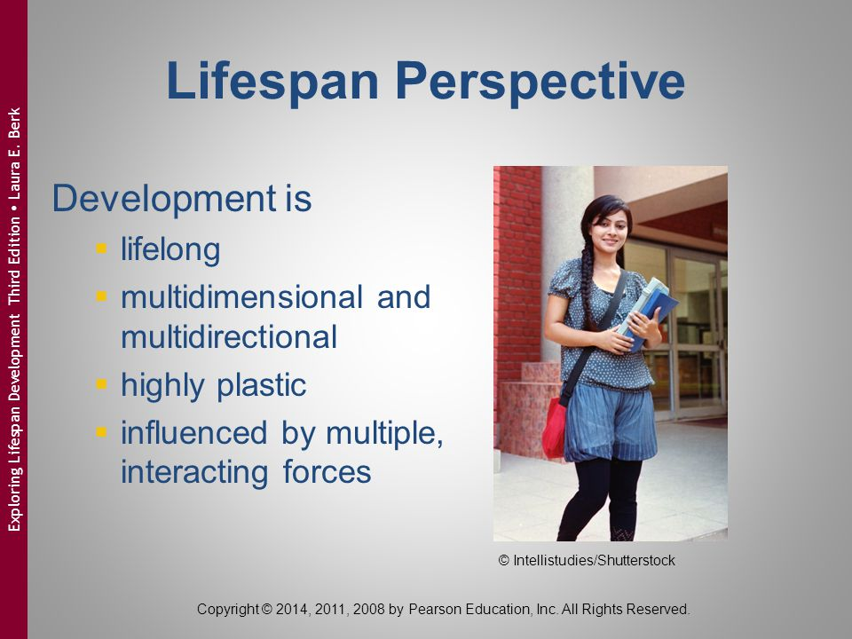 Lifespan Perspective Development is lifelong