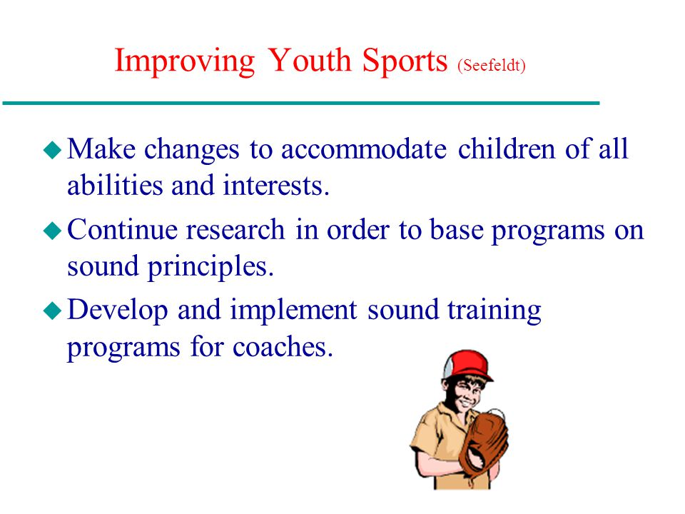 Improving Youth Sports (Seefeldt)
