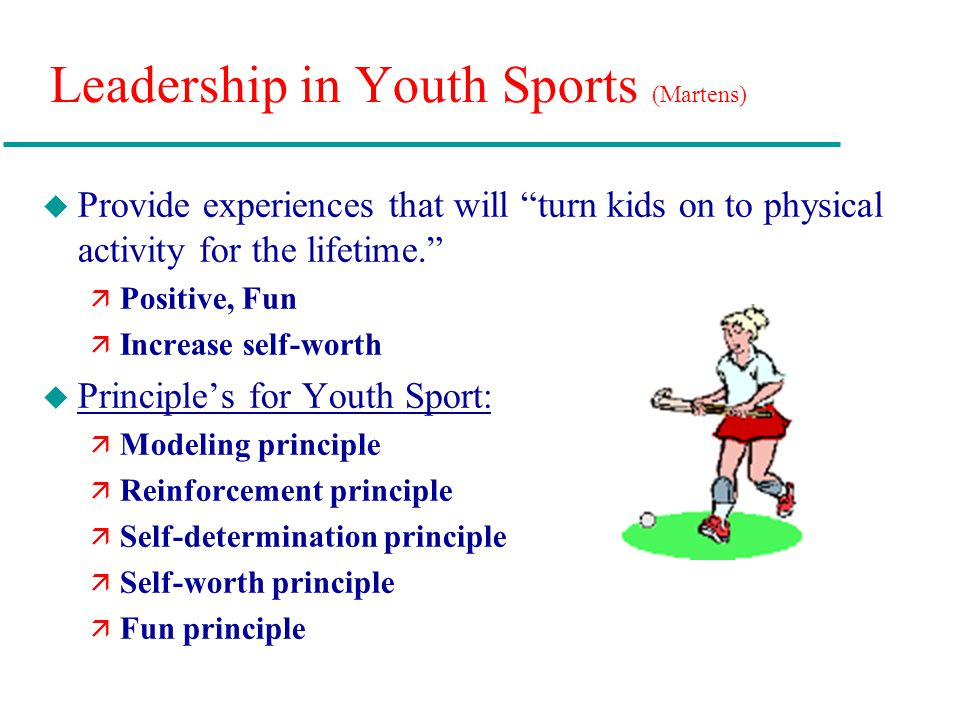 negative leadership and youth sports essay Adolescents' negative experiences in organized youth activities jodi dworkin university of minnesota mentoring and youth sports suggests that a single negative experience with a mentor or coach leadership organization for high school women.