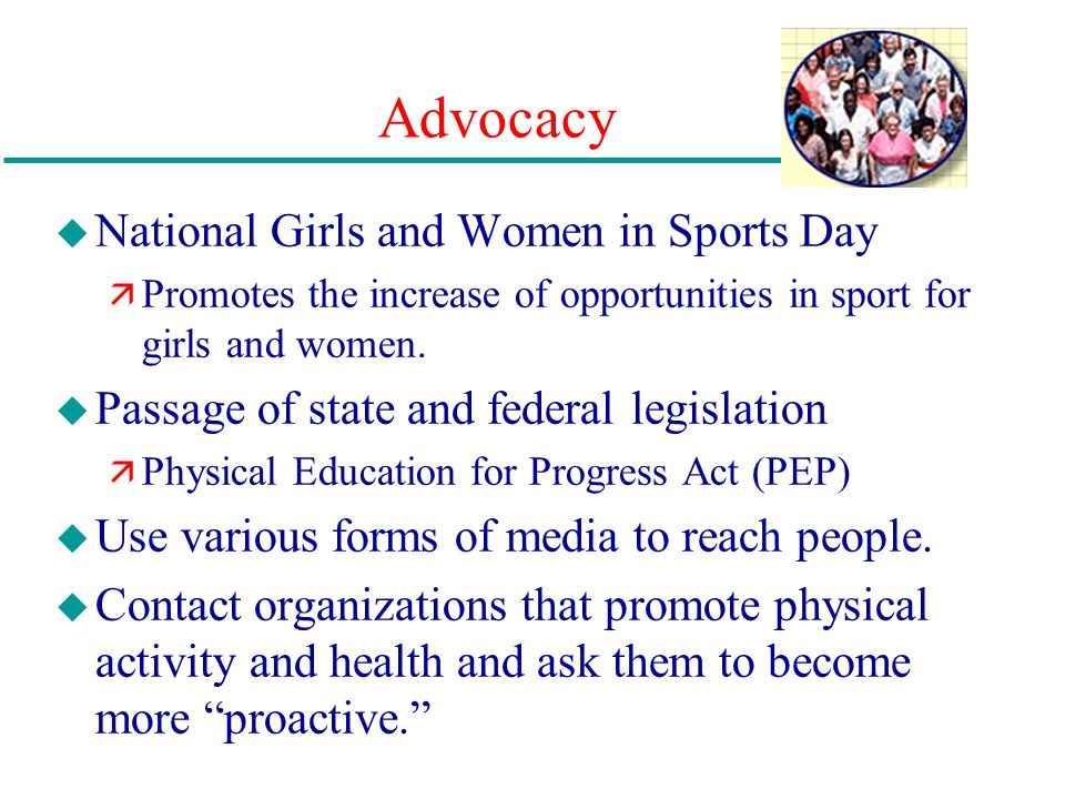 Advocacy National Girls and Women in Sports Day