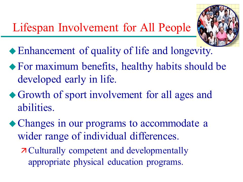 Lifespan Involvement for All People