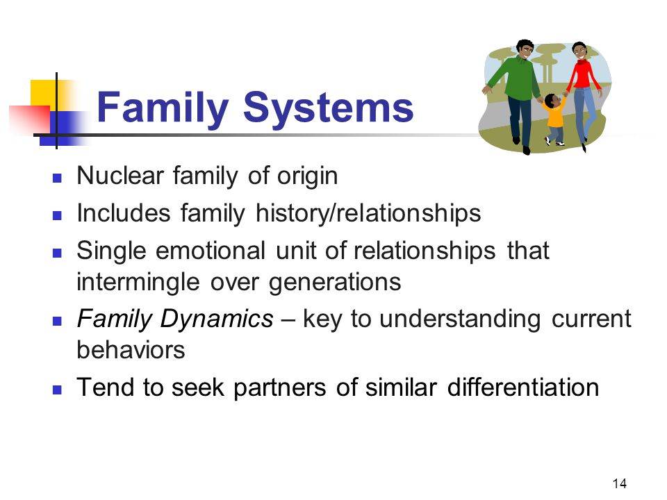 Family Systems Nuclear family of origin