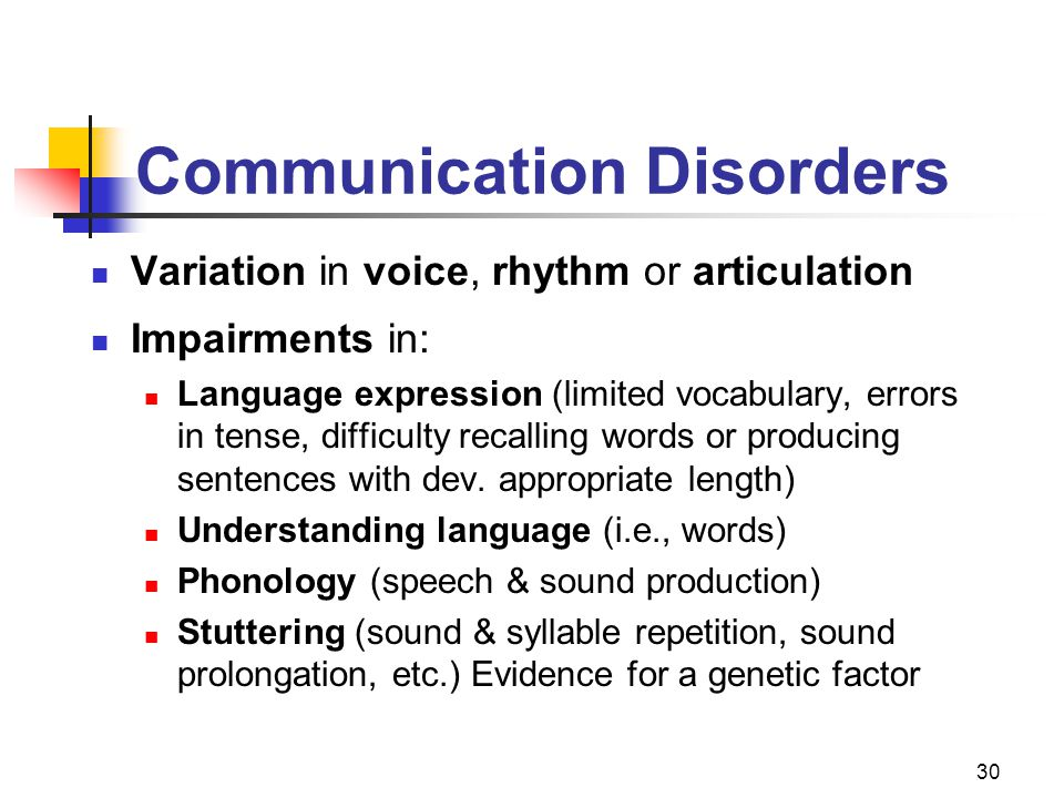 Communication Disorders