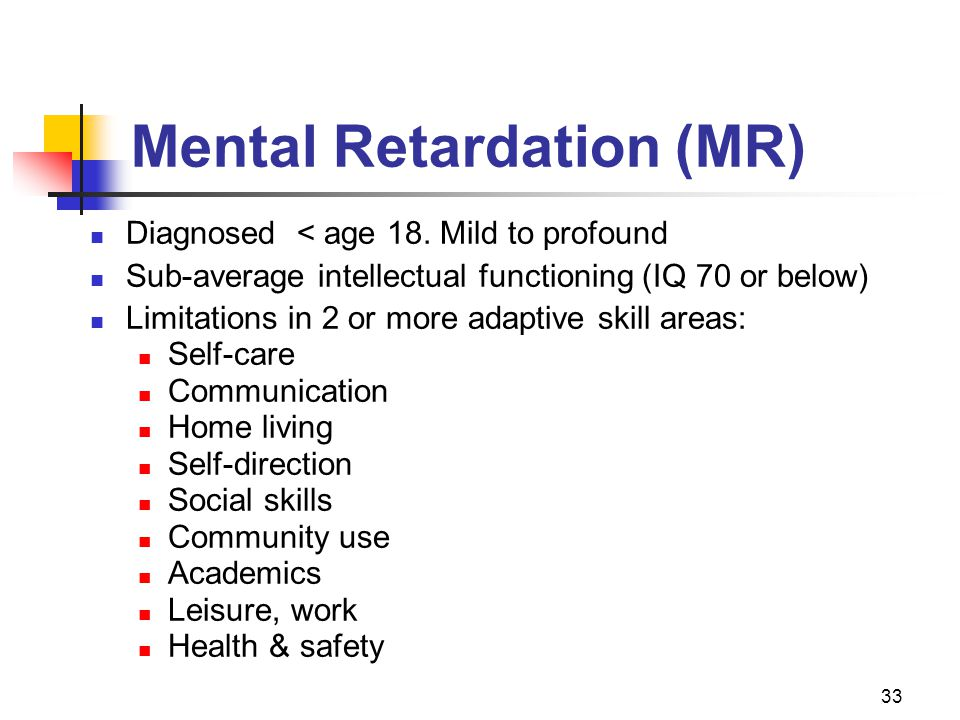 Mental Retardation (MR)