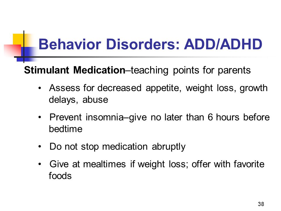 Behavior Disorders: ADD/ADHD