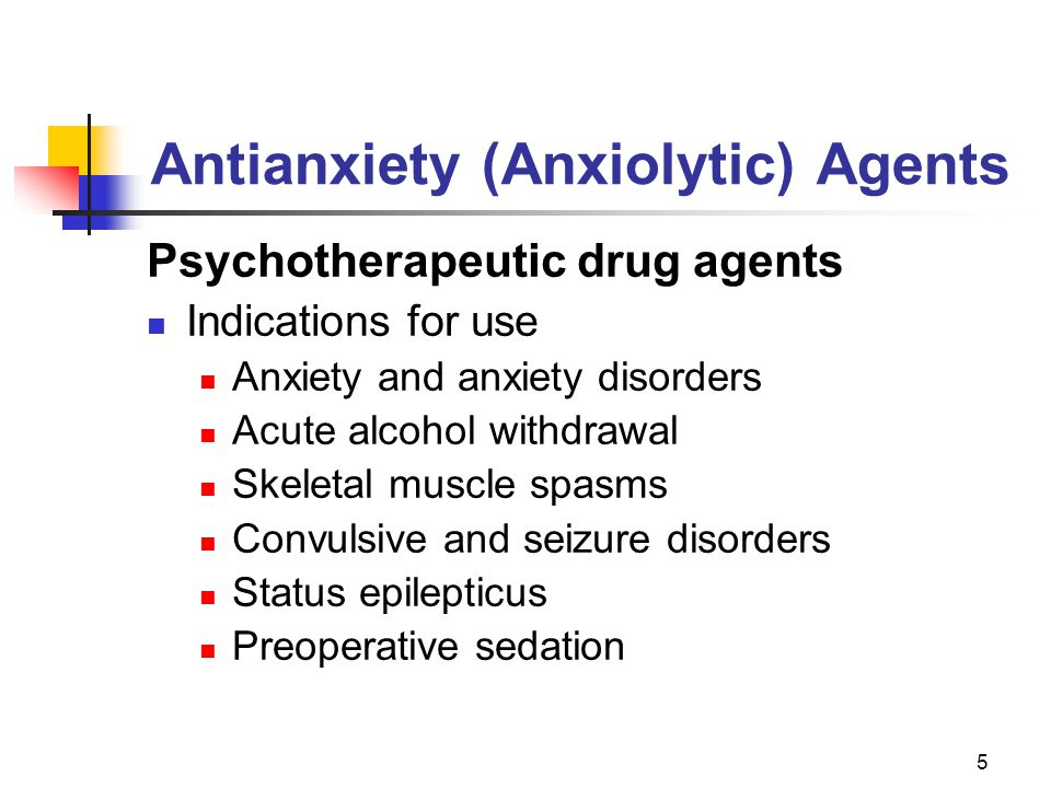 Antianxiety (Anxiolytic) Agents
