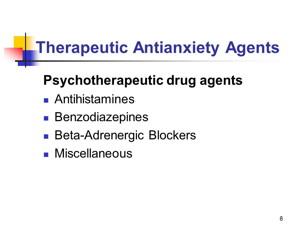 Therapeutic Antianxiety Agents