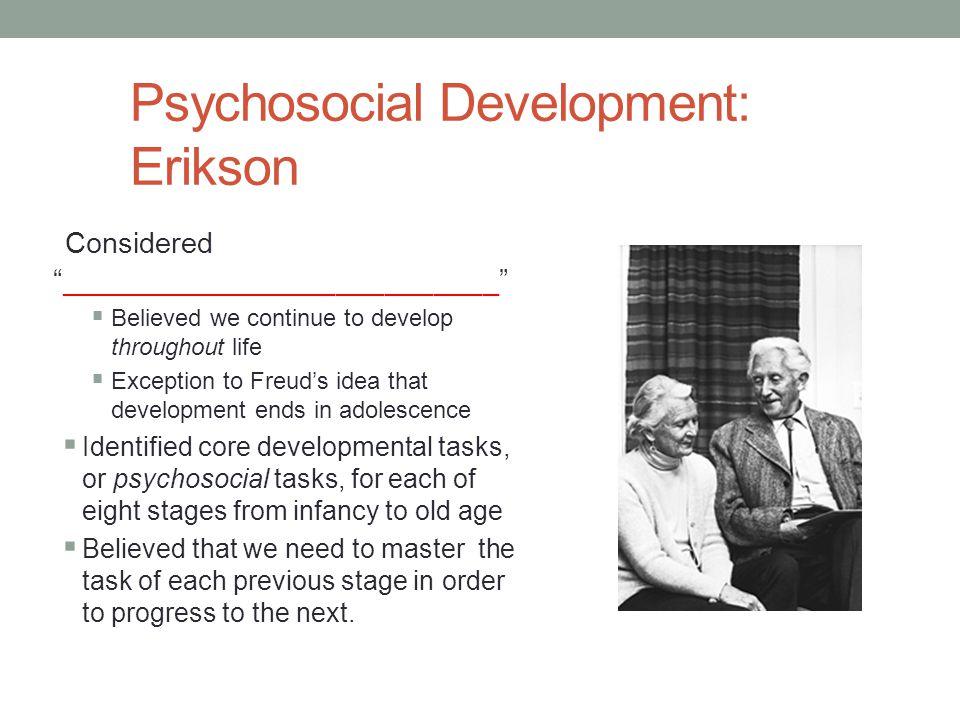 Psychosocial Development: Erikson