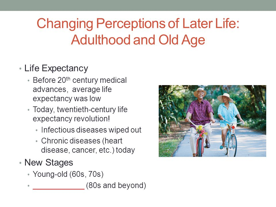 Changing Perceptions of Later Life: Adulthood and Old Age