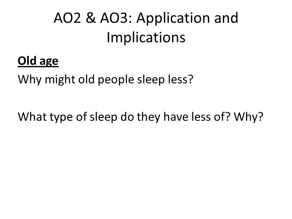 AO2 & AO3: Application and Implications