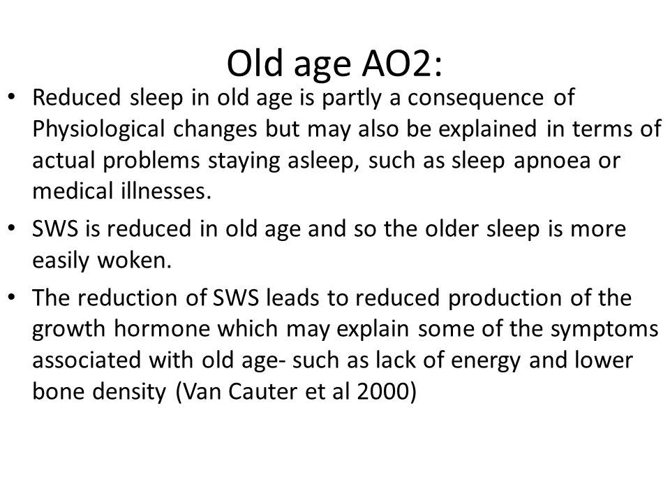 Old age AO2: