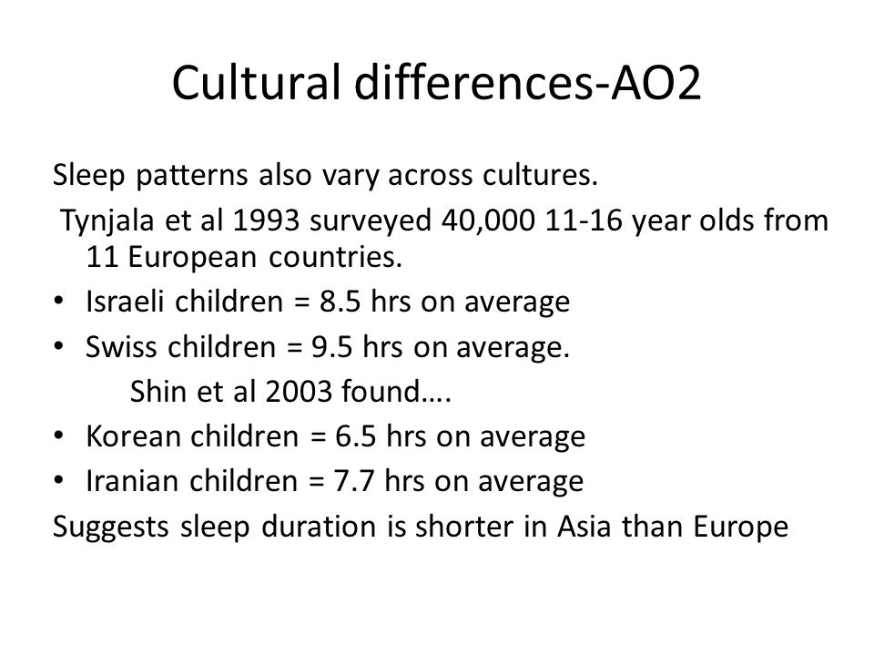 Cultural differences-AO2