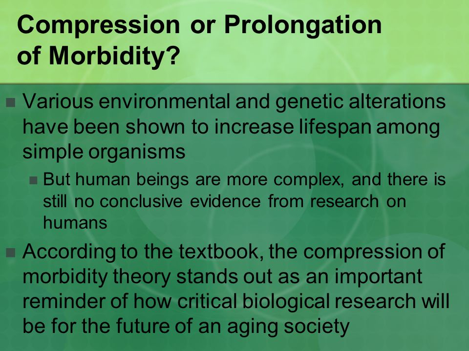 Compression or Prolongation of Morbidity