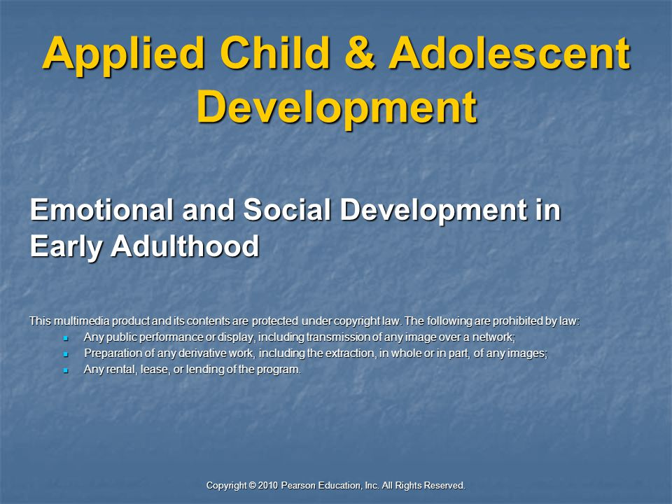 Applied Child & Adolescent Development