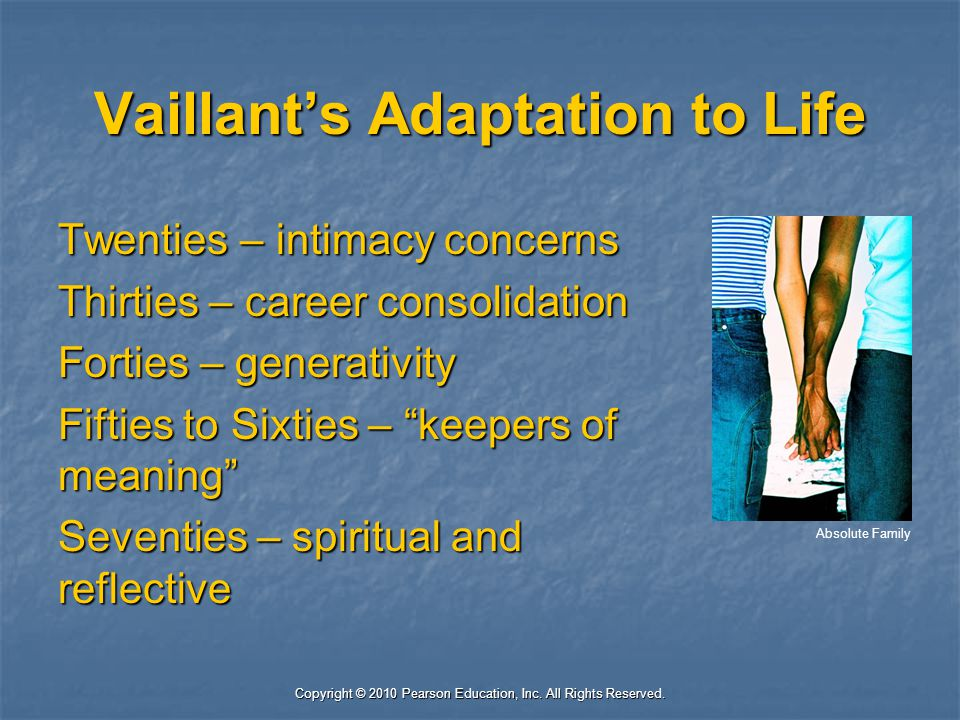 Vaillant's Adaptation to Life