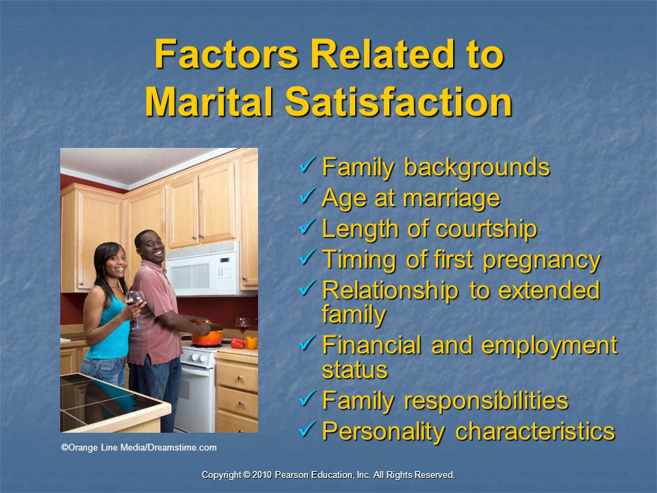 Factors Related to Marital Satisfaction