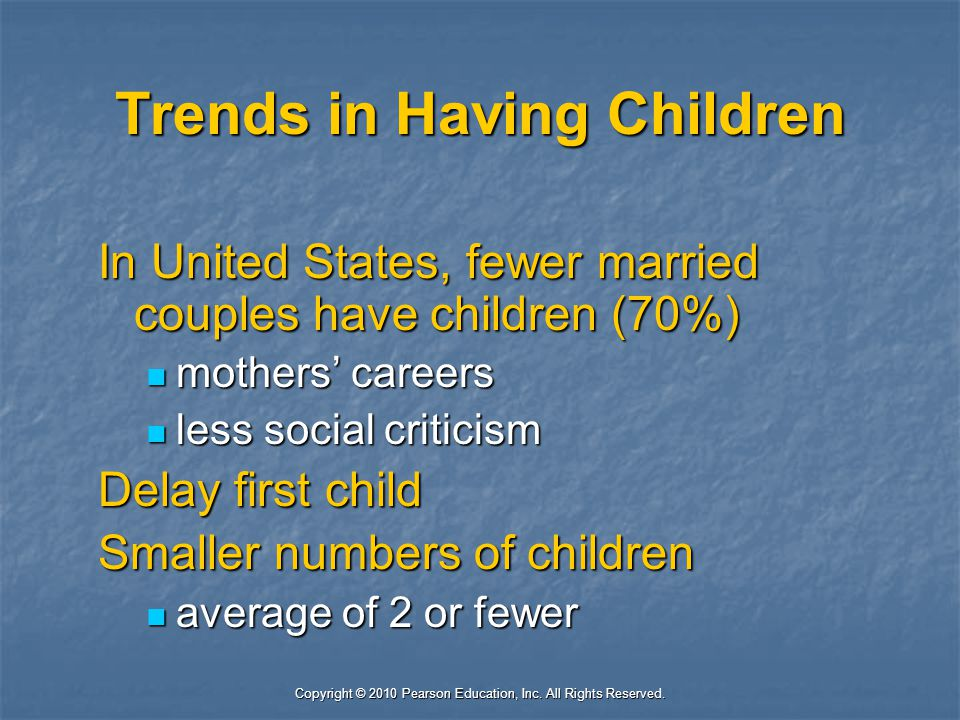 Trends in Having Children
