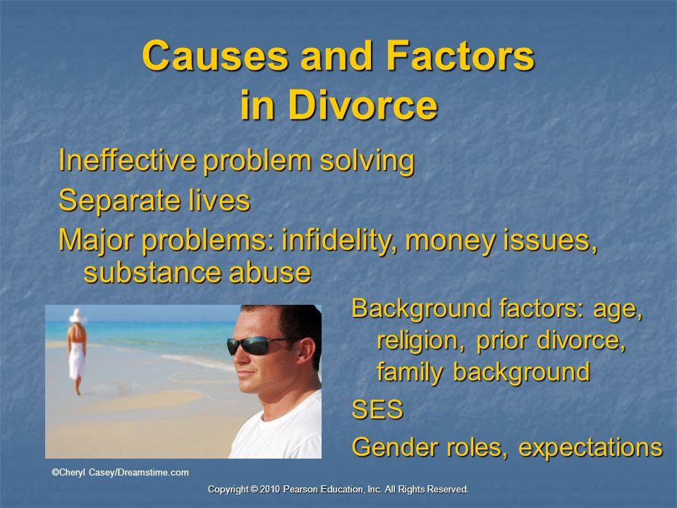 Causes and Factors in Divorce