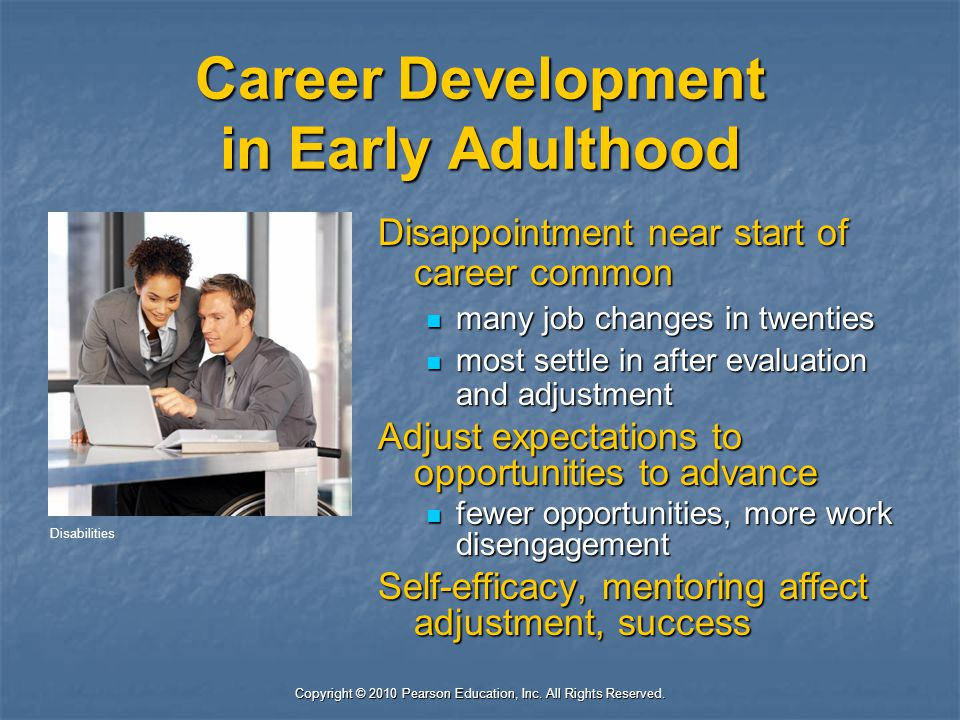 Career Development in Early Adulthood