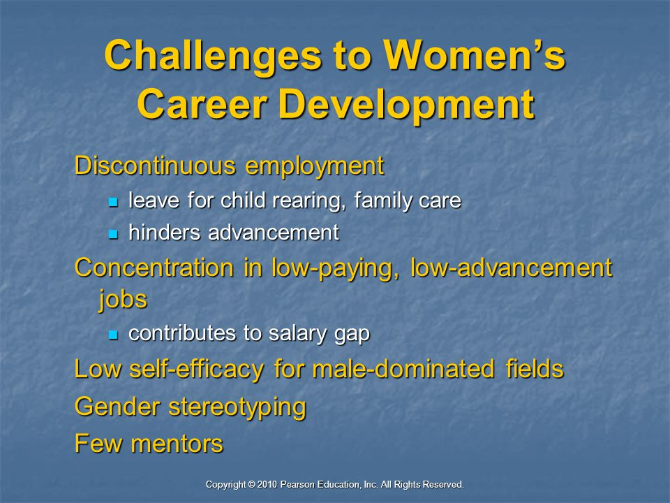 Challenges to Women's Career Development