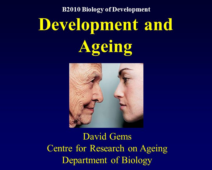 B2010 Biology of Development Development and Ageing