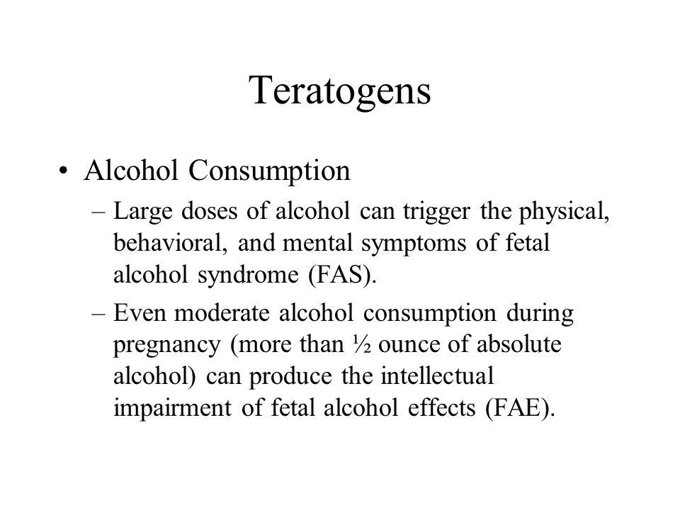 Teratogens Alcohol Consumption