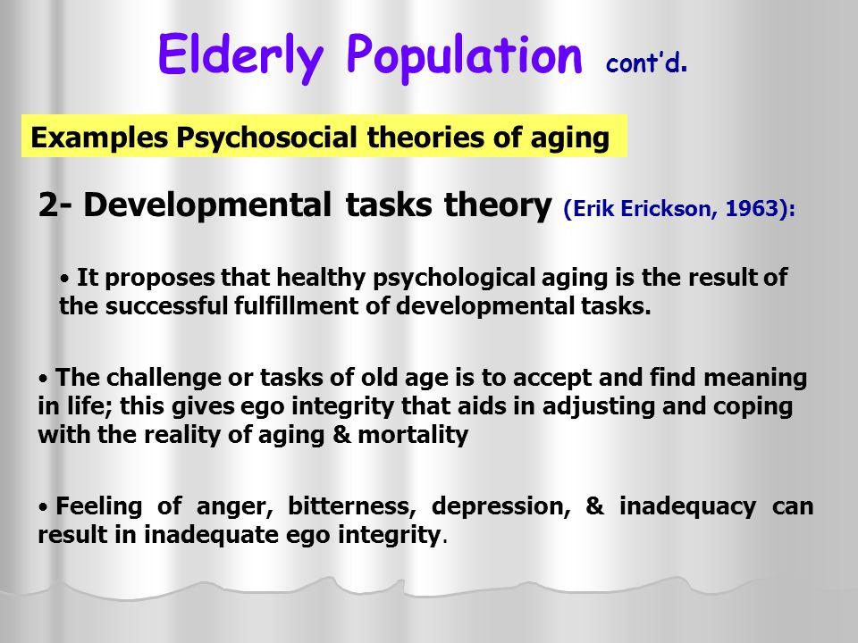 Elderly Population cont'd.