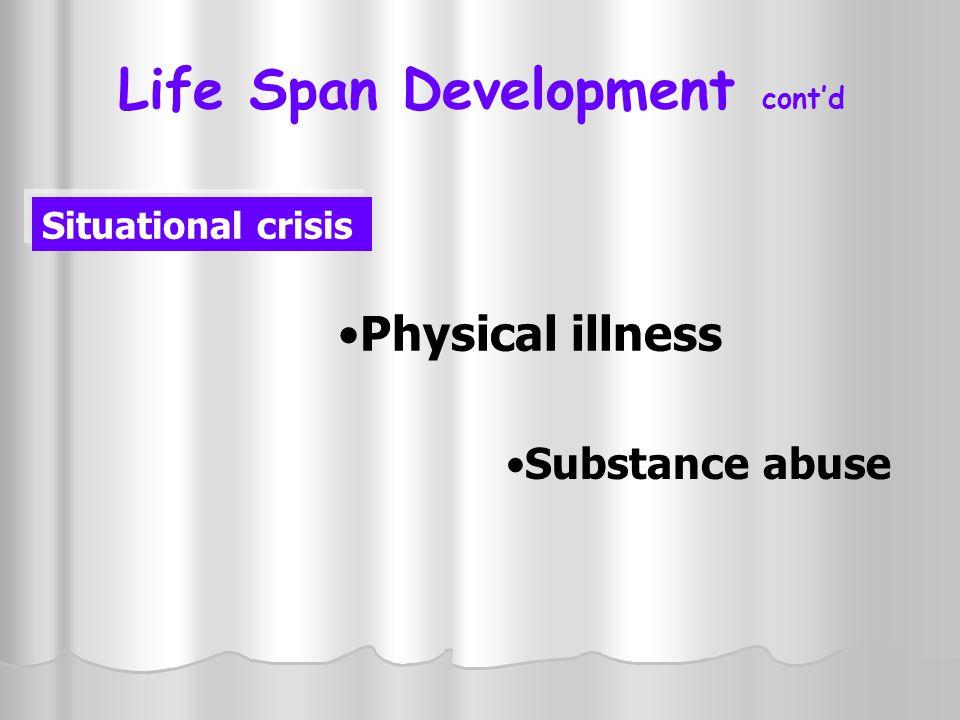 Life Span Development cont'd