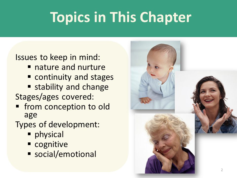 Topics in This Chapter Issues to keep in mind: nature and nurture