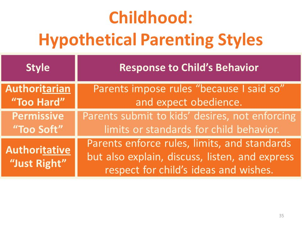 Childhood: Hypothetical Parenting Styles