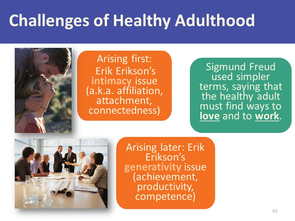 Challenges of Healthy Adulthood