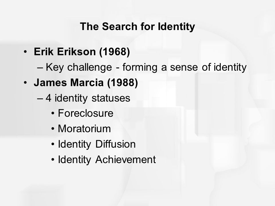 The Search for Identity