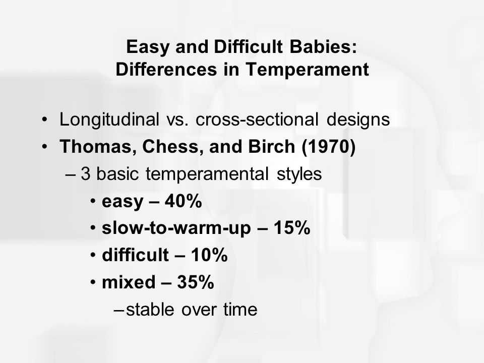 Easy and Difficult Babies: Differences in Temperament