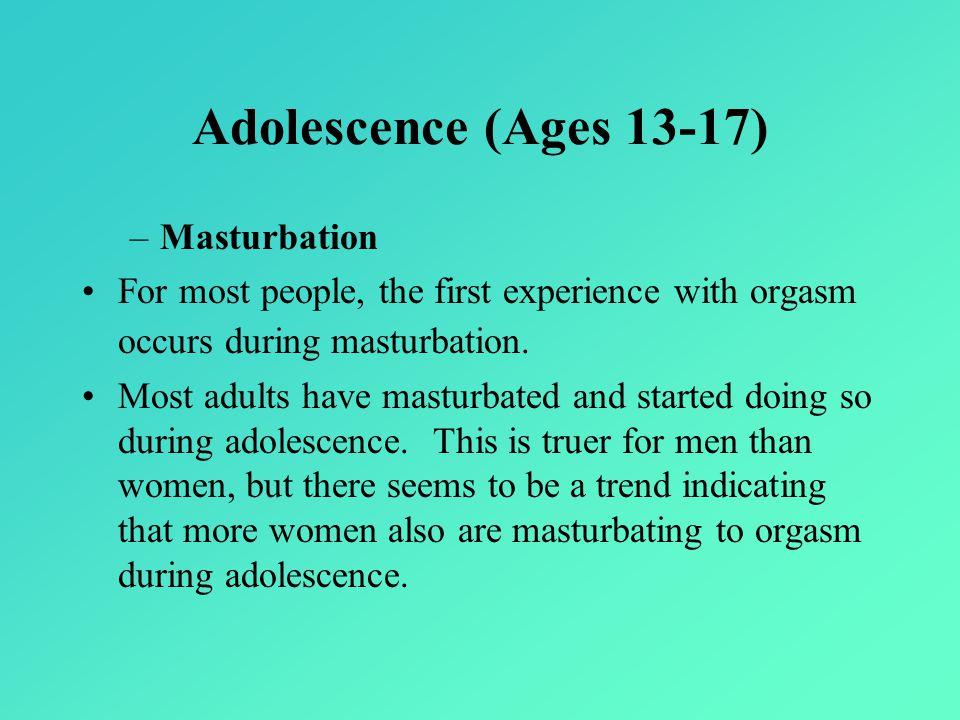 Adolescence (Ages 13-17) Masturbation