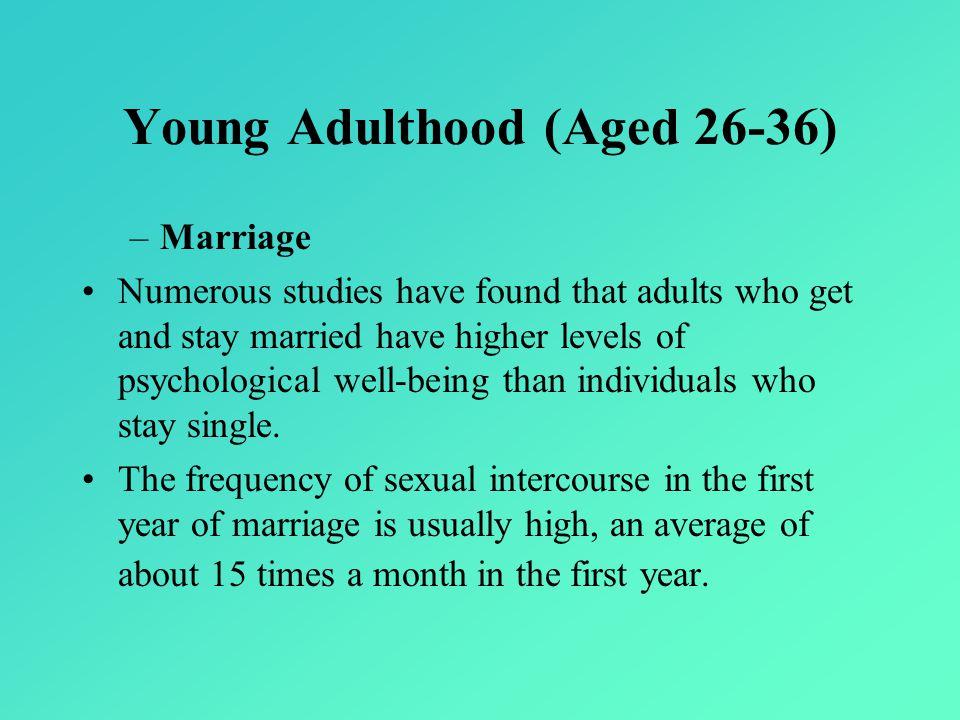 Young Adulthood (Aged 26-36)