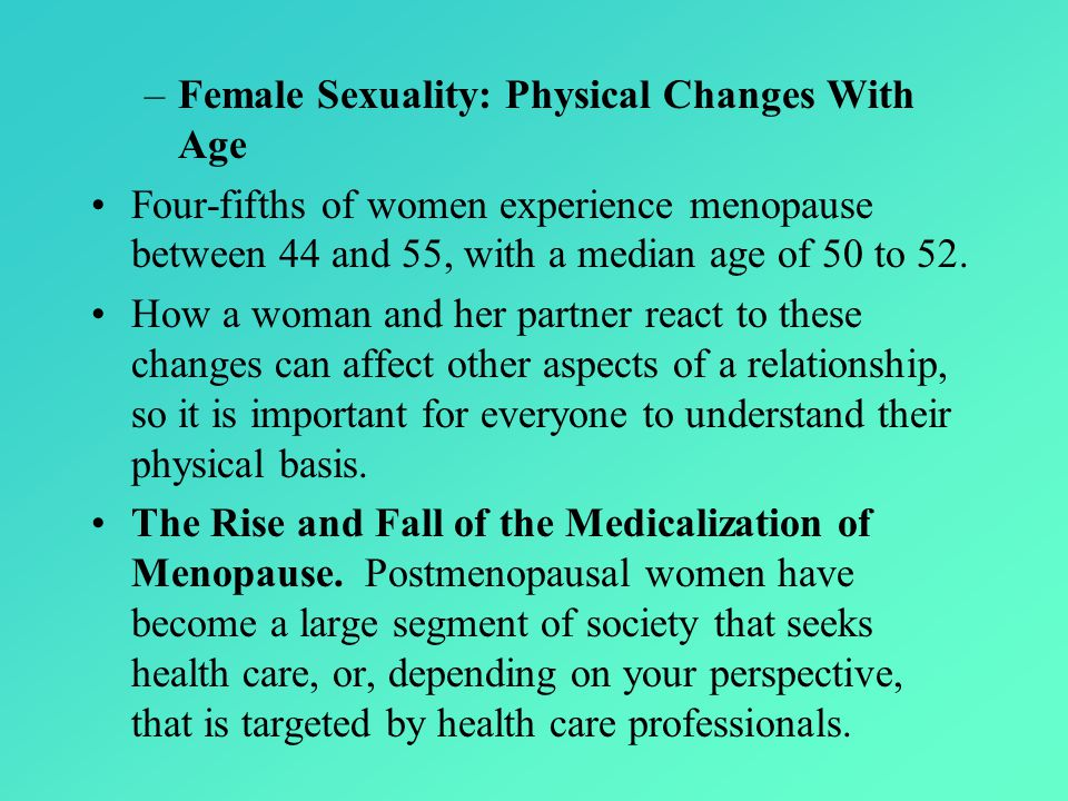 Female Sexuality: Physical Changes With Age