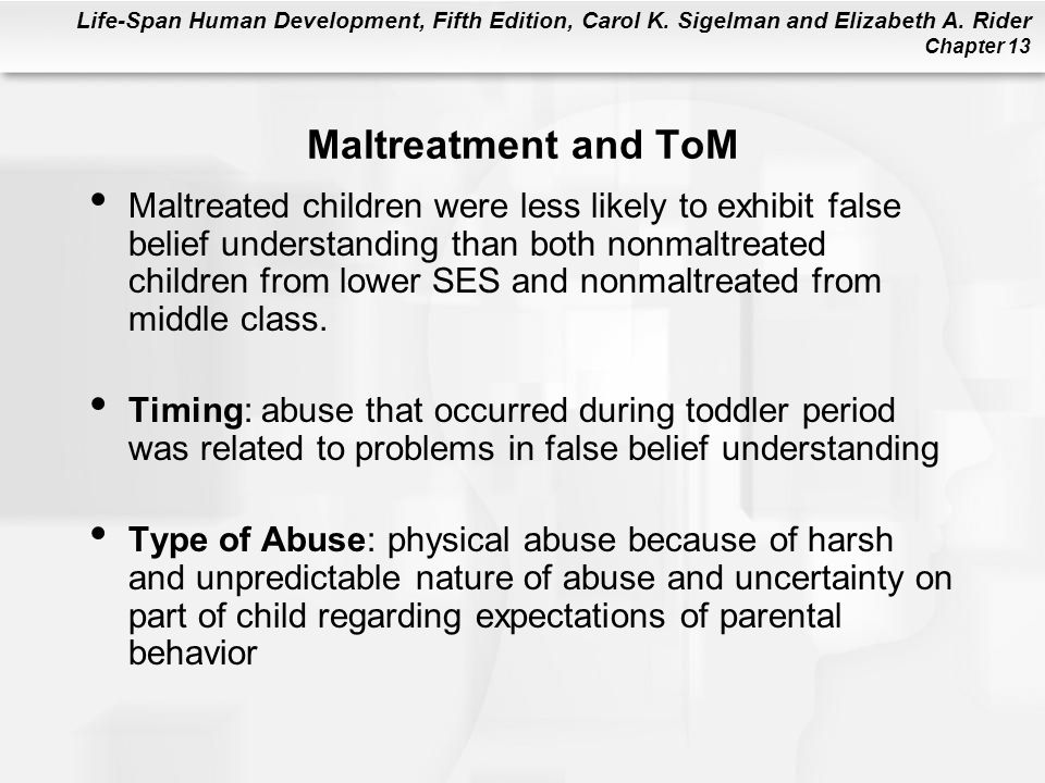 Maltreatment and ToM