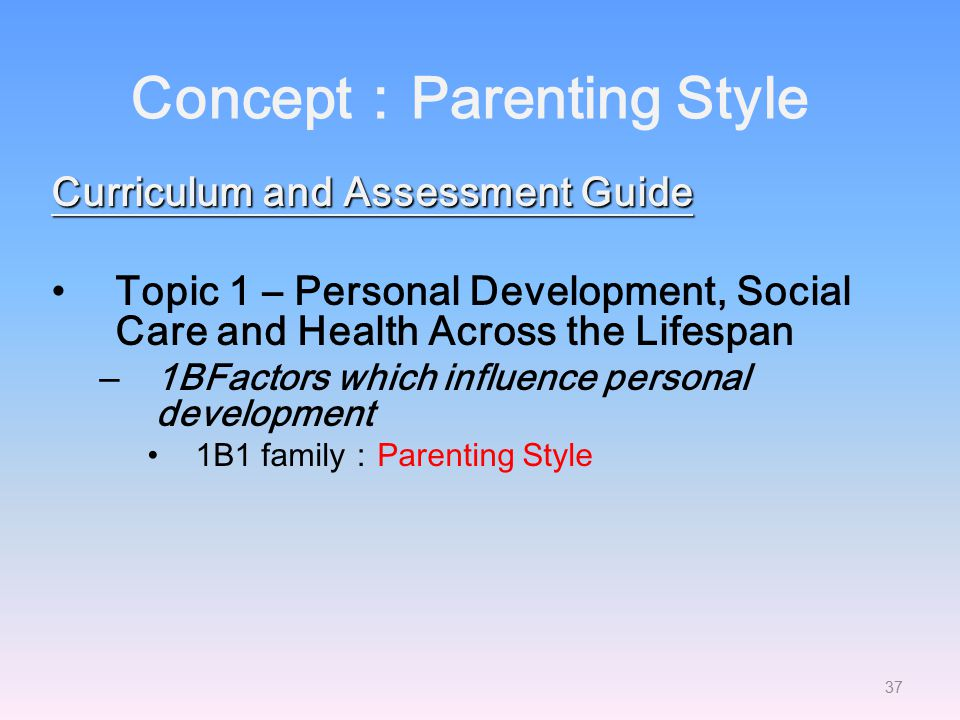 Concept:Parenting Style