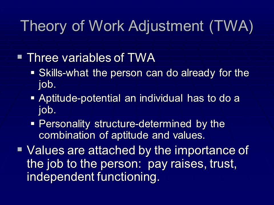 Theory of Work Adjustment (TWA)