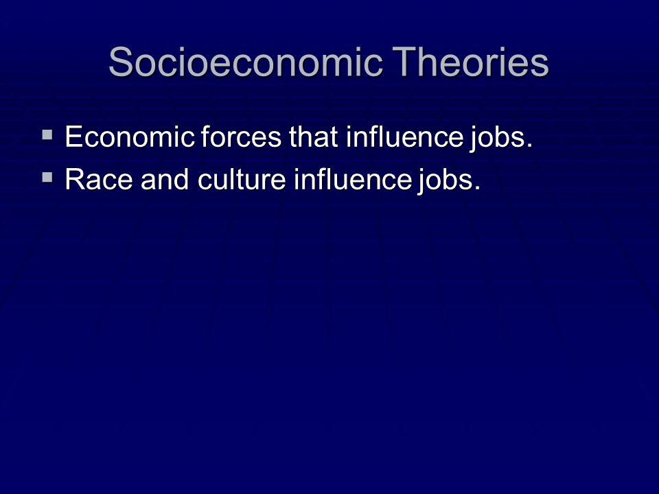 Socioeconomic Theories