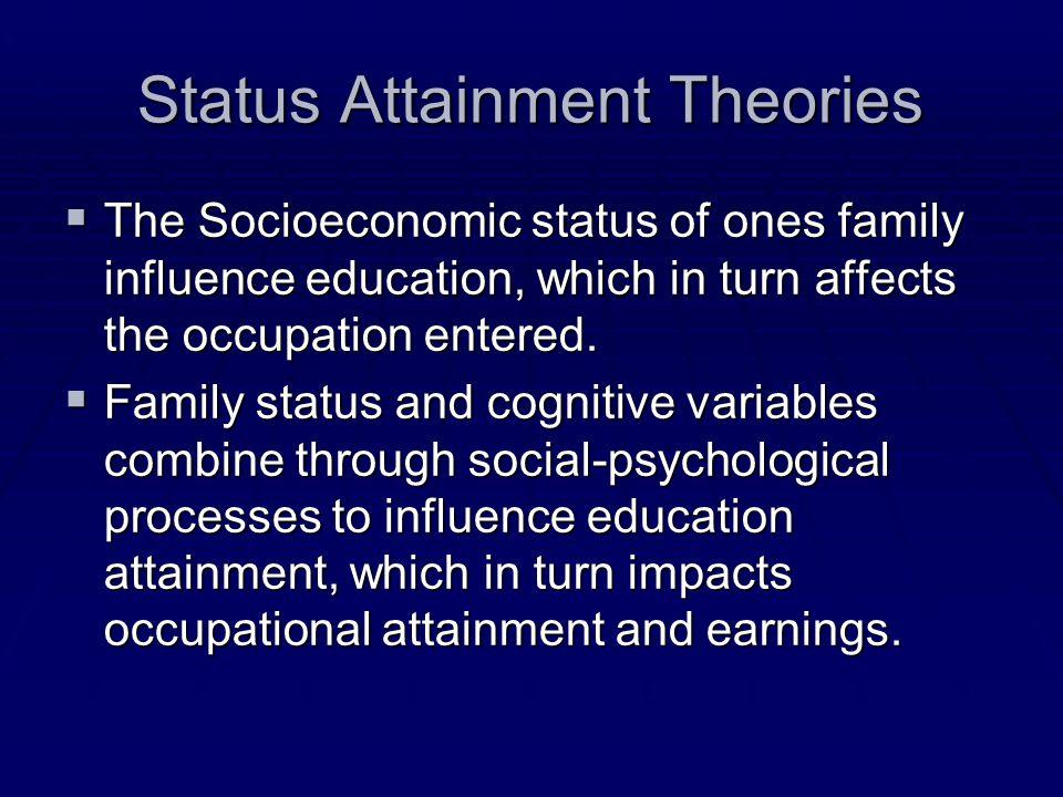 Status Attainment Theories
