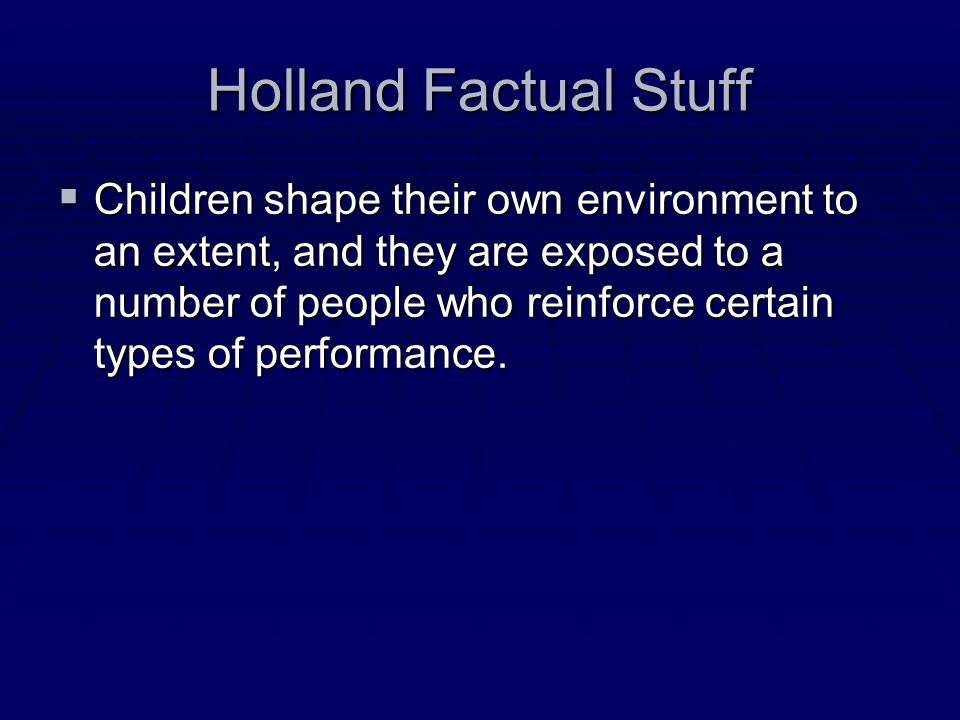Holland Factual Stuff