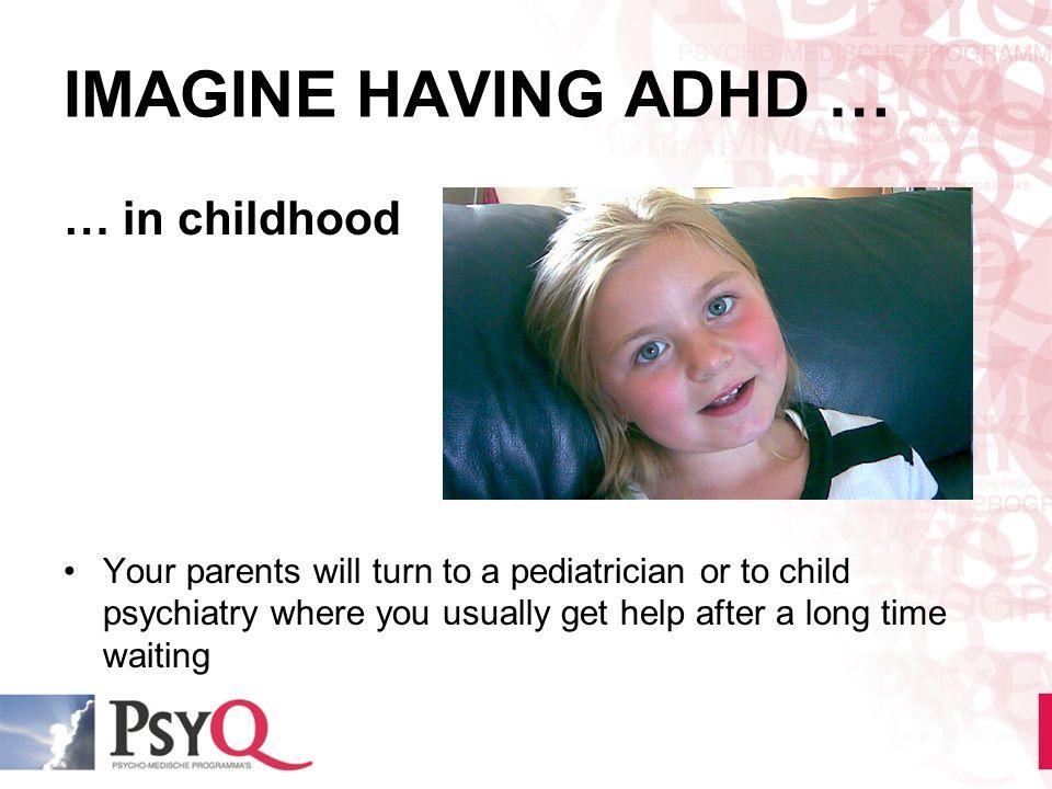 IMAGINE HAVING ADHD … … in childhood