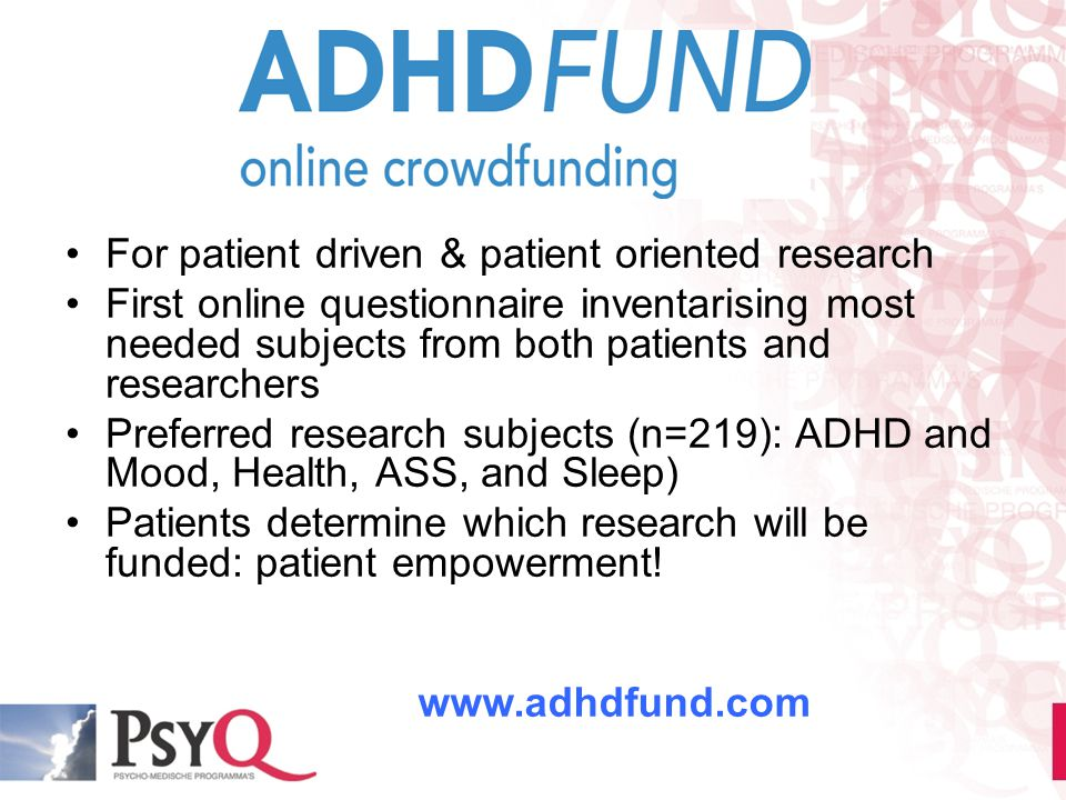 For patient driven & patient oriented research